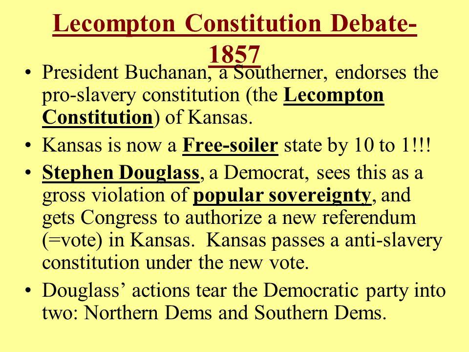 Lecompton Constitution Debate- 1857