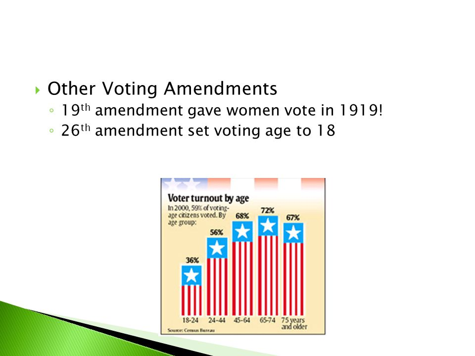 Other Voting Amendments