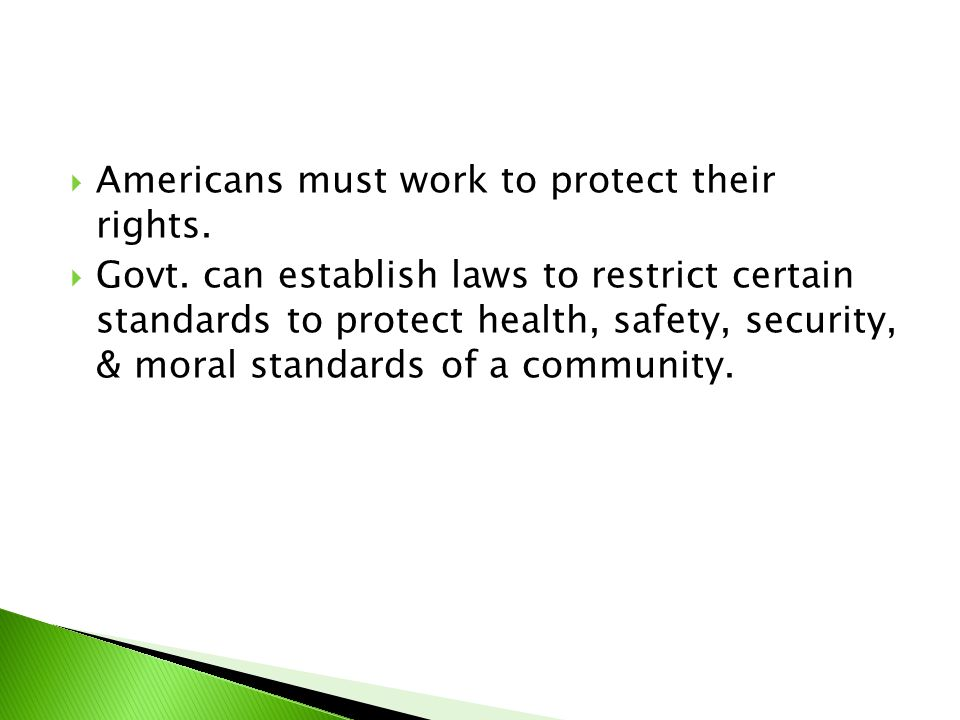 Americans must work to protect their rights.