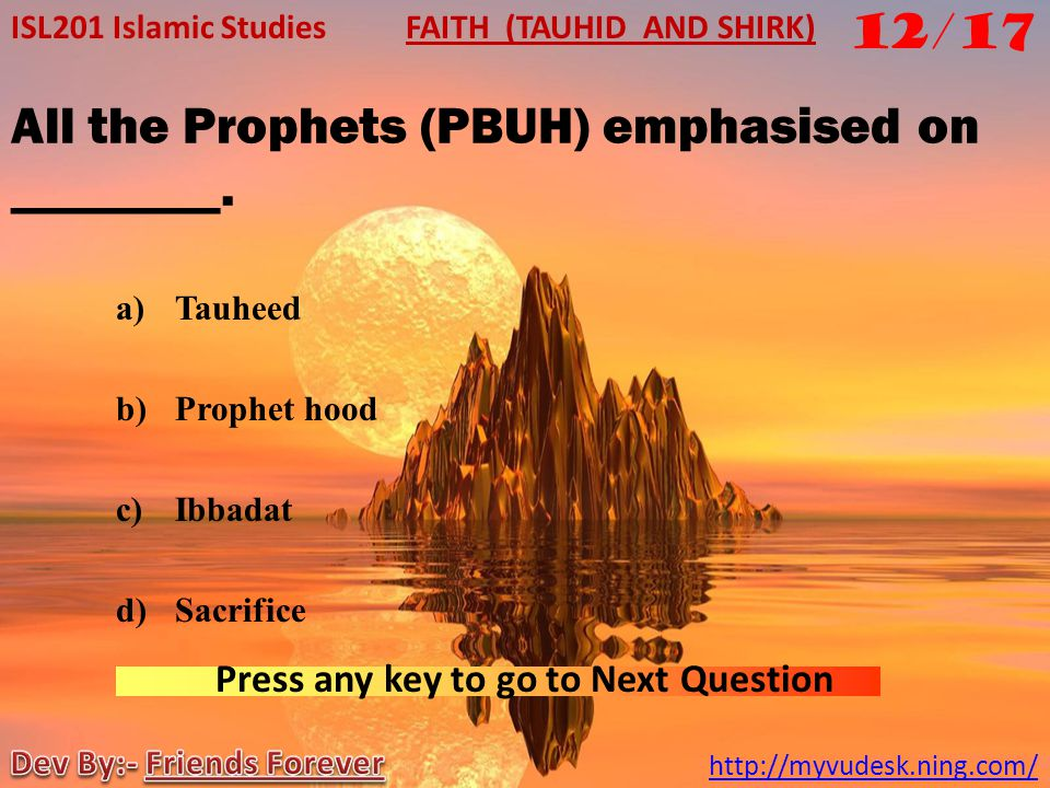All the Prophets (PBUH) emphasised on ________.