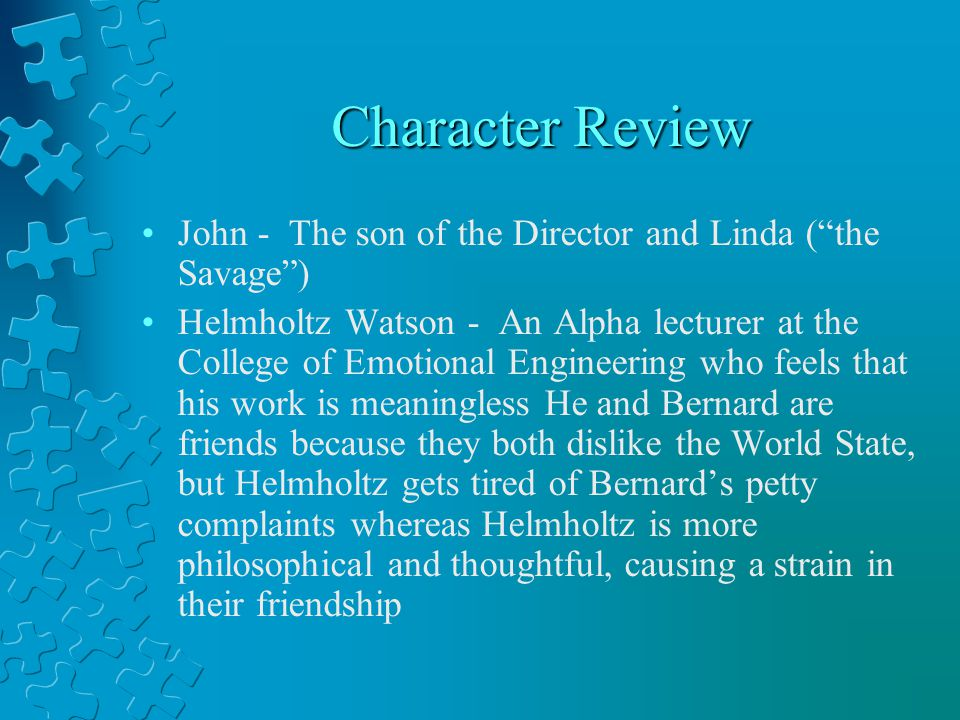 Character Review John - The son of the Director and Linda ( the Savage )