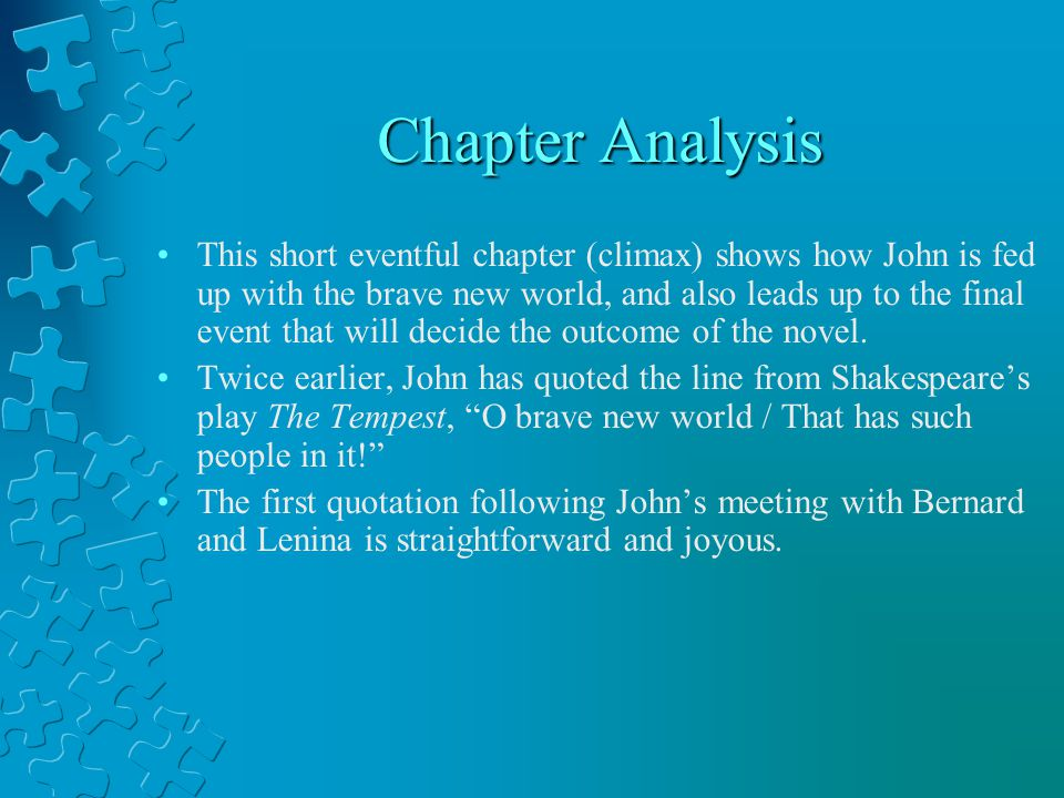 Chapter Analysis