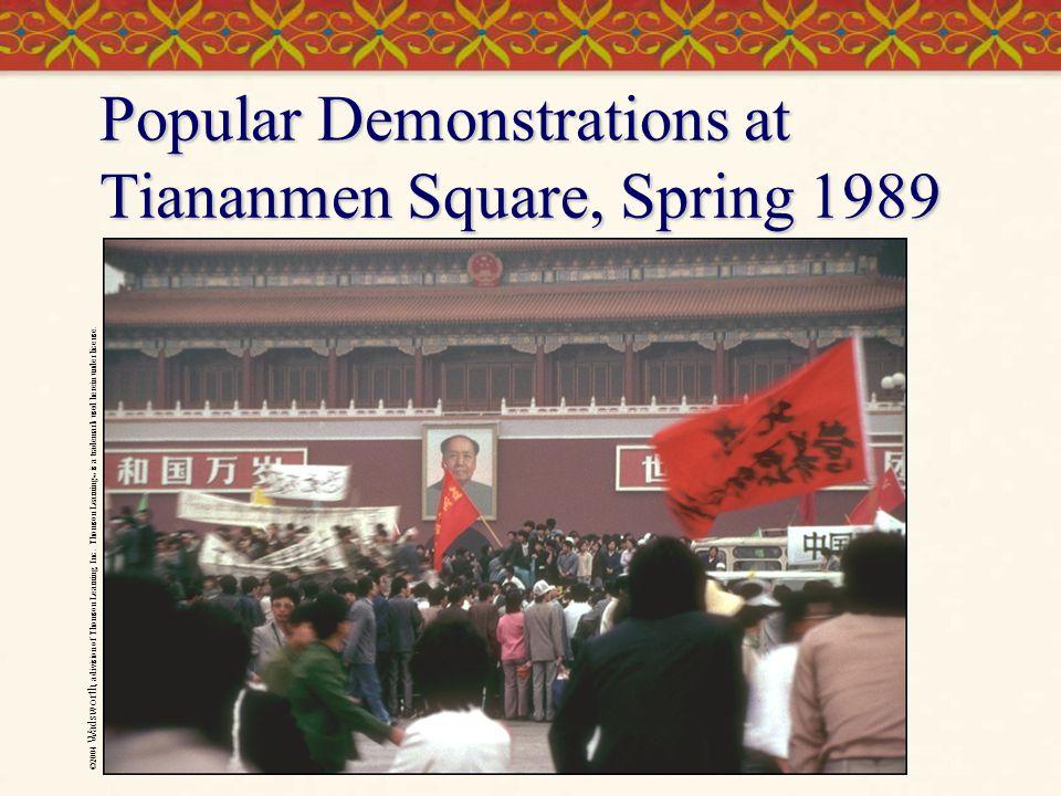 Popular Demonstrations at Tiananmen Square, Spring 1989