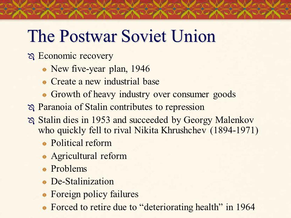 The Postwar Soviet Union