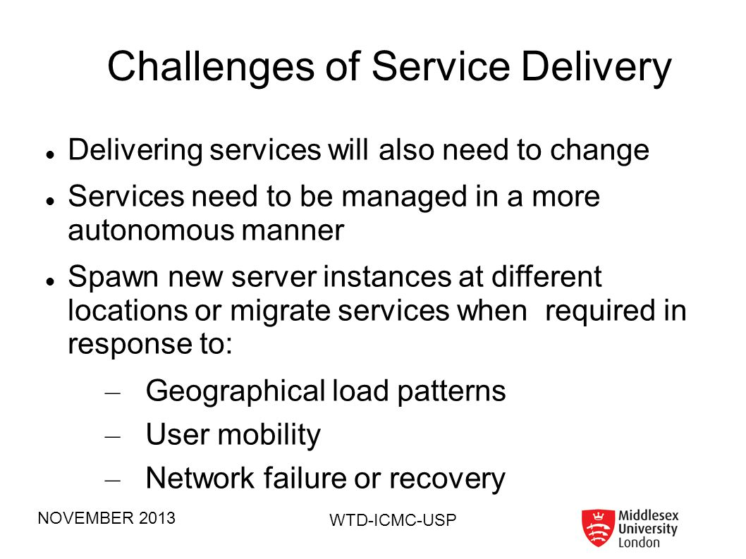 Challenges of Service Delivery