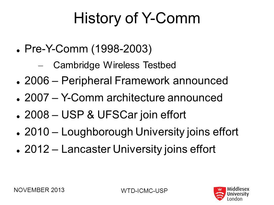 History of Y-Comm Pre-Y-Comm (1998-2003)