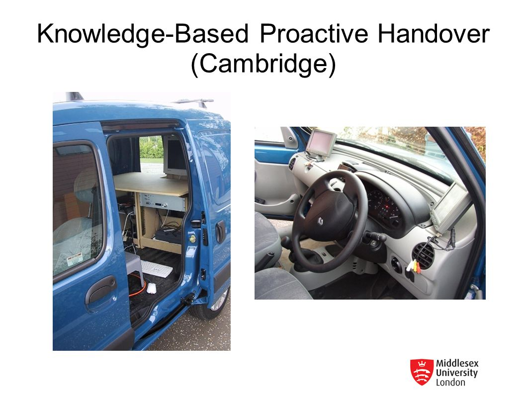 Knowledge-Based Proactive Handover (Cambridge)