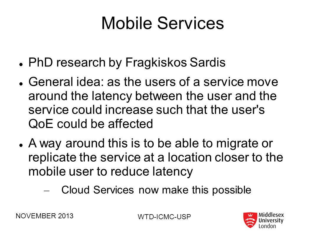 Mobile Services PhD research by Fragkiskos Sardis