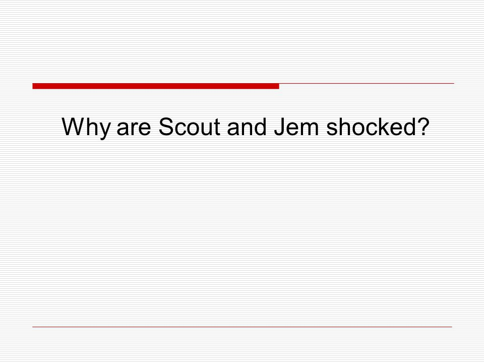Why are Scout and Jem shocked