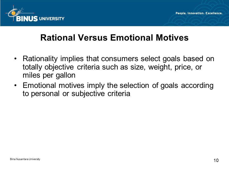 Rational Versus Emotional Motives