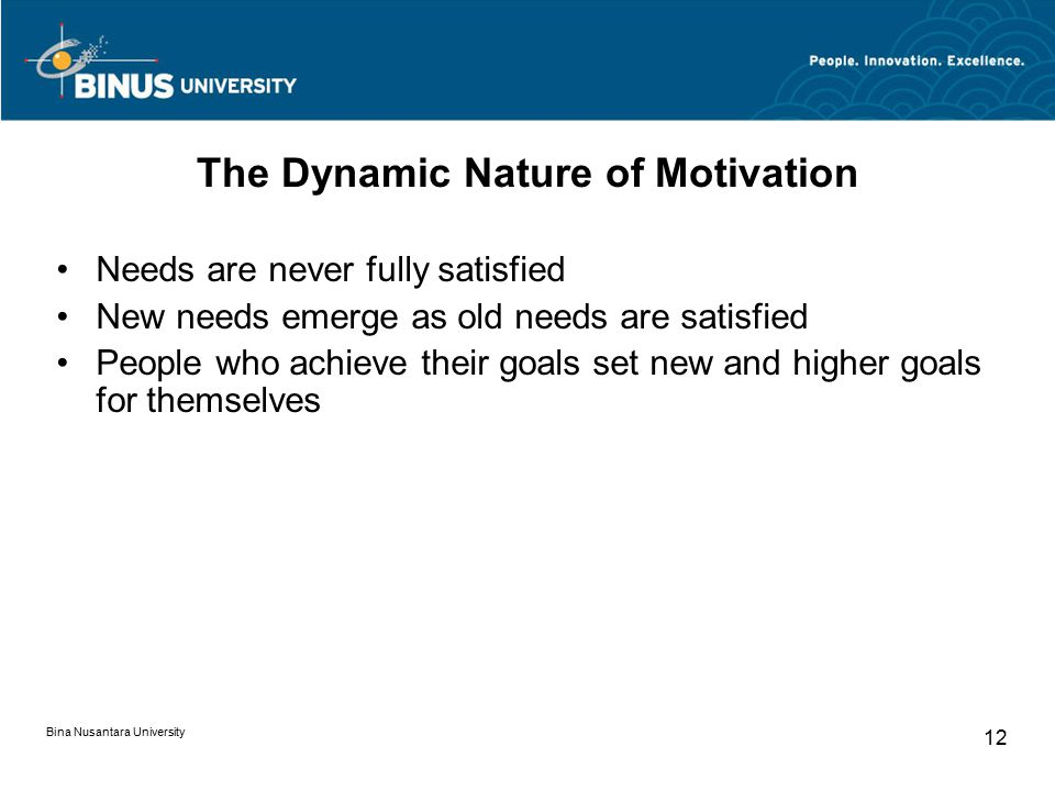 The Dynamic Nature of Motivation