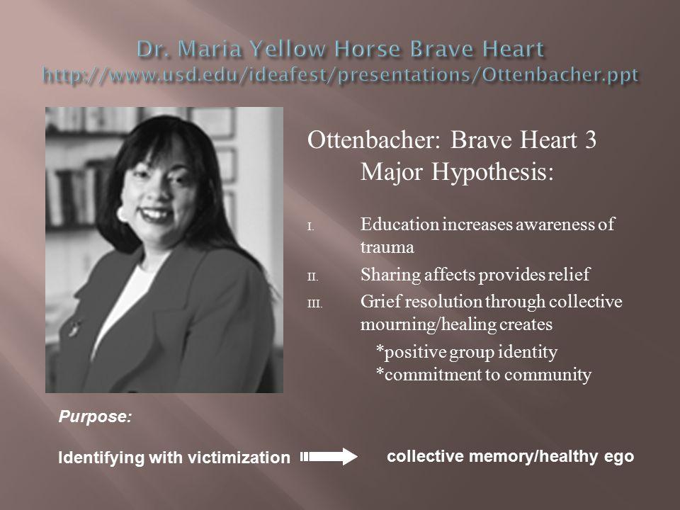 Ottenbacher: Brave Heart 3 Major Hypothesis: