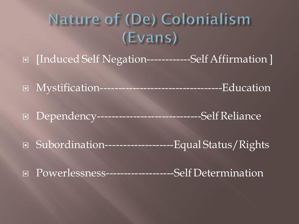 Nature of (De) Colonialism (Evans)