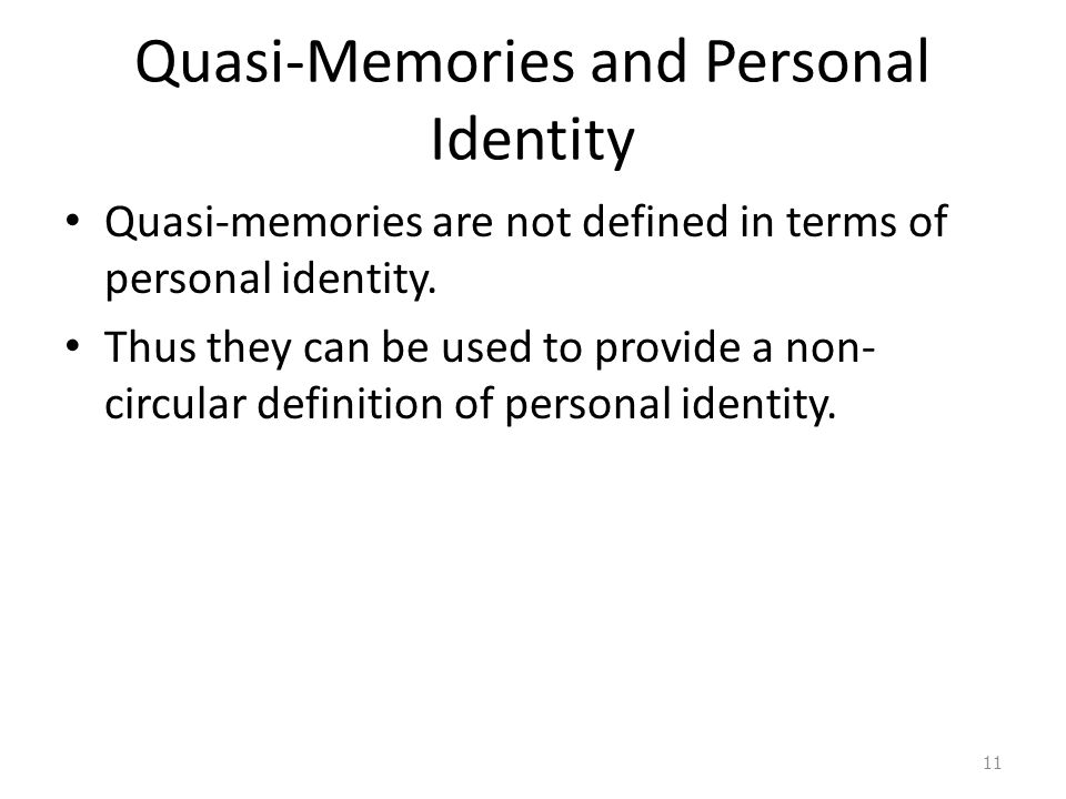 Quasi-Memories and Personal Identity