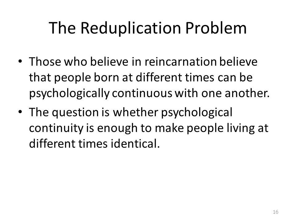 The Reduplication Problem