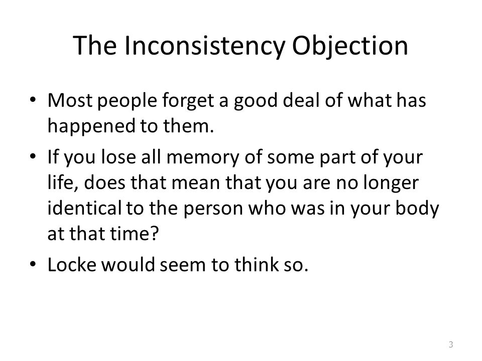 The Inconsistency Objection