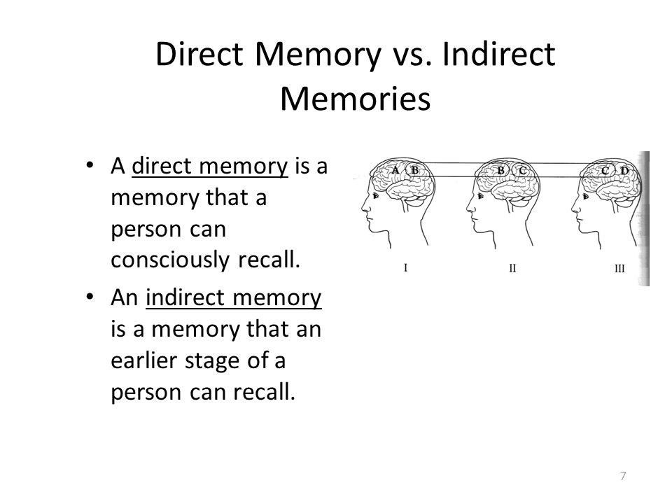 Direct Memory vs. Indirect Memories