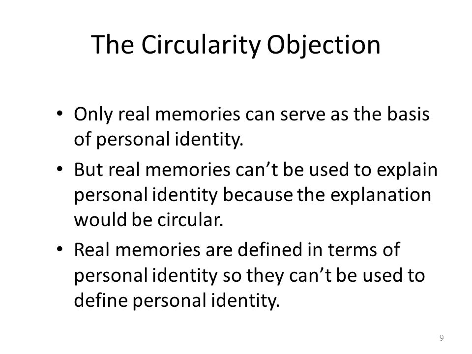 The Circularity Objection
