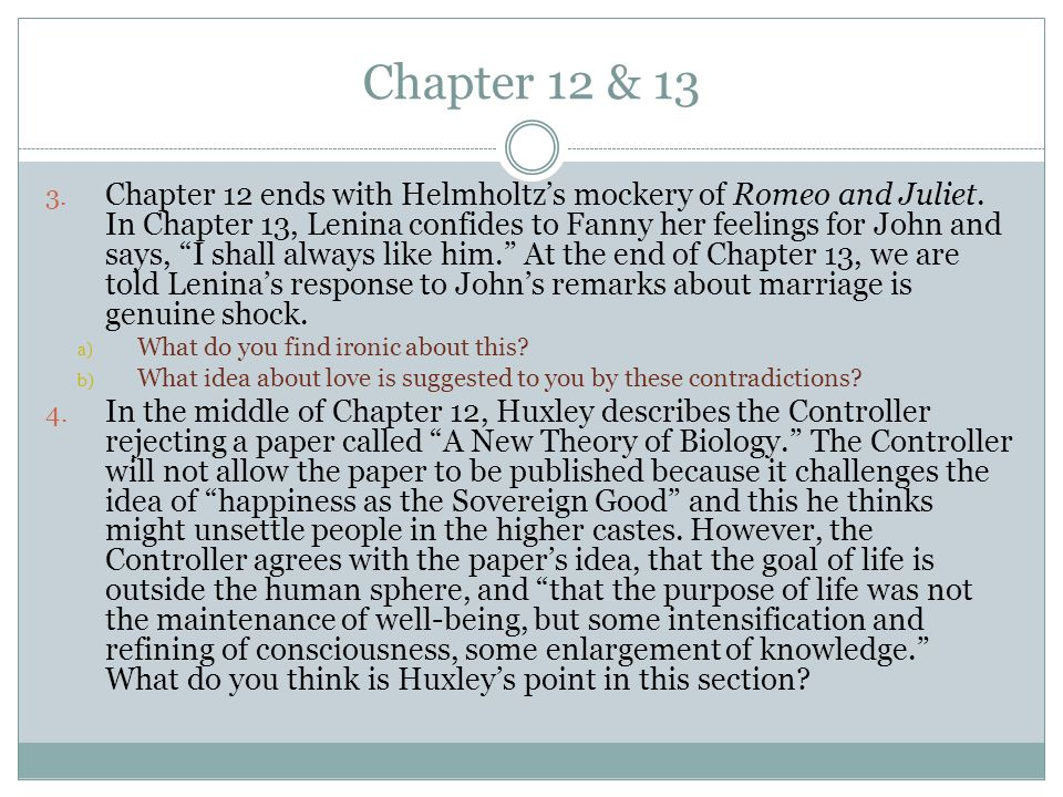 Chapter 12 & 13