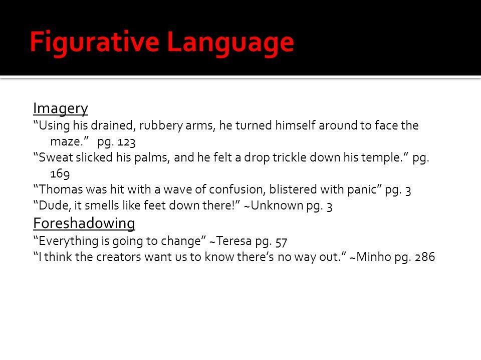 Figurative Language Imagery Foreshadowing