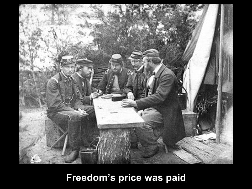 Freedom's price was paid