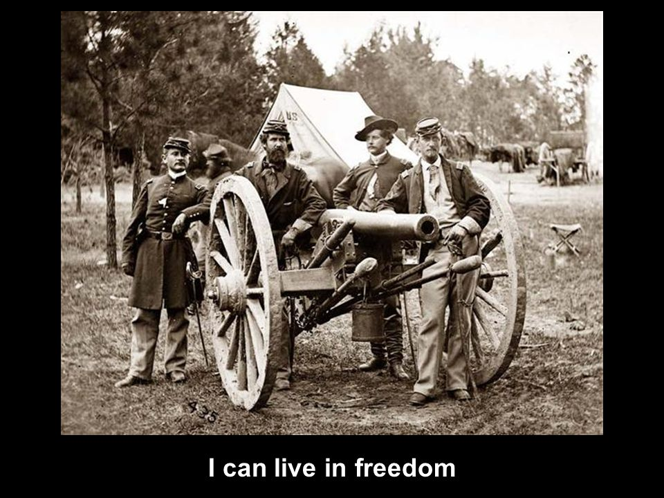 I can live in freedom