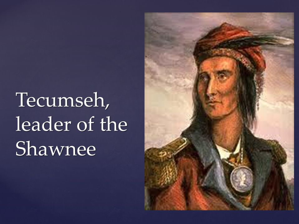 Tecumseh, leader of the Shawnee