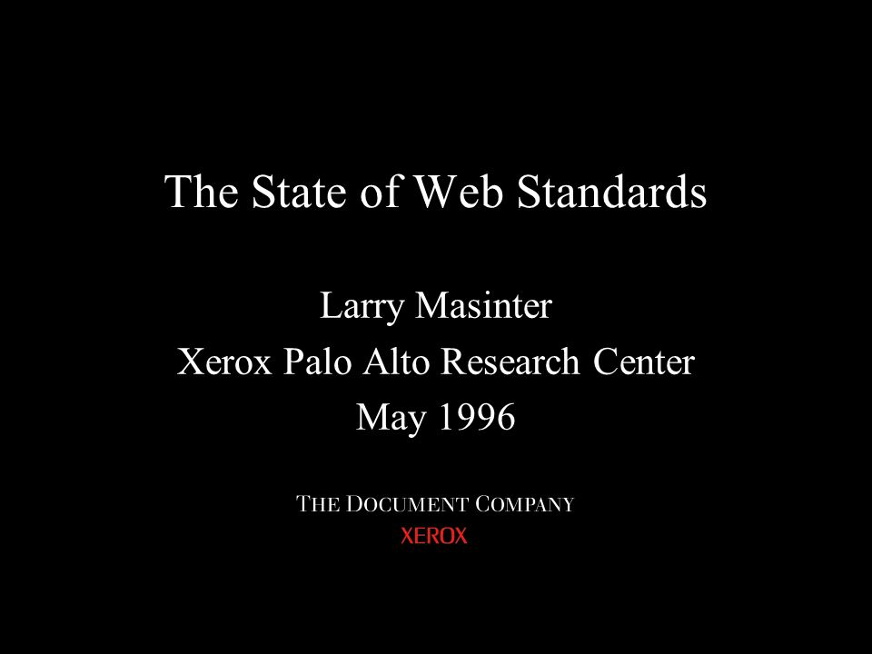 The State of Web Standards