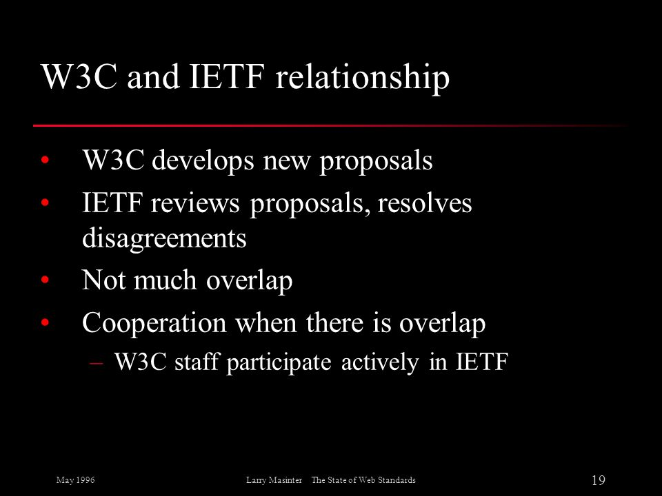 W3C and IETF relationship