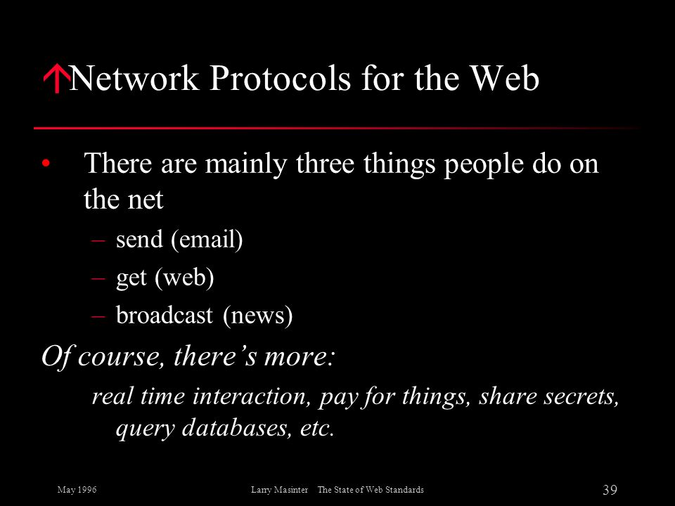 Network Protocols for the Web