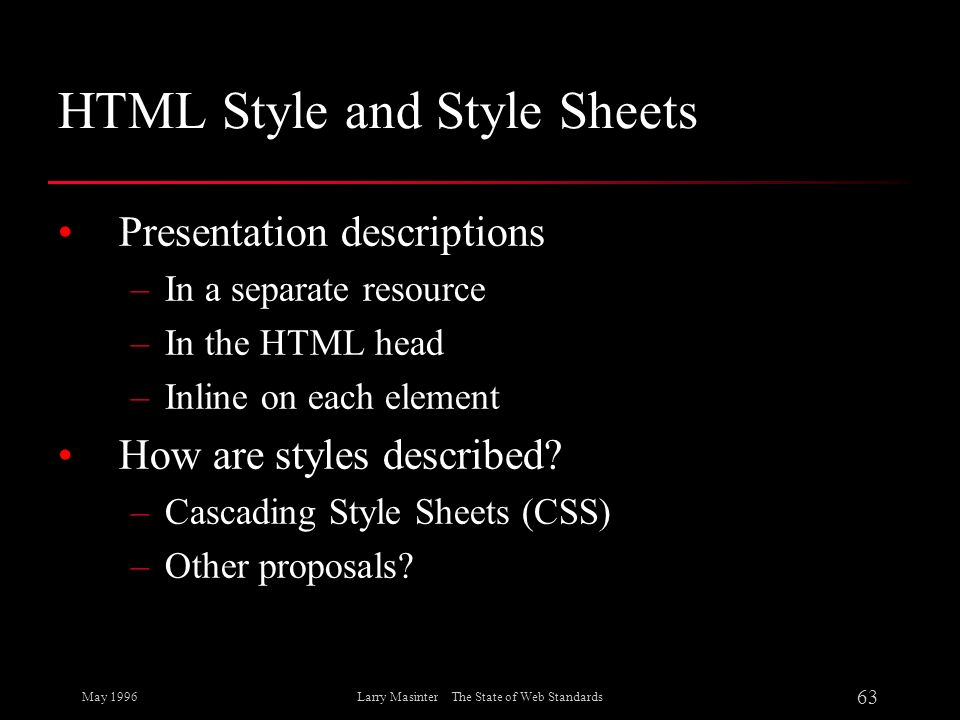 HTML Style and Style Sheets