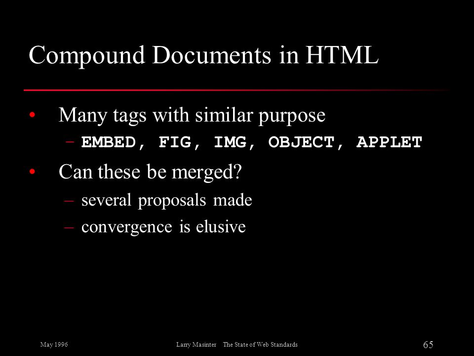 Compound Documents in HTML
