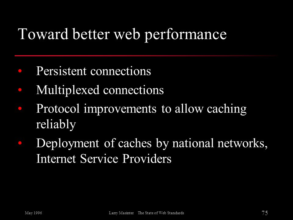 Toward better web performance