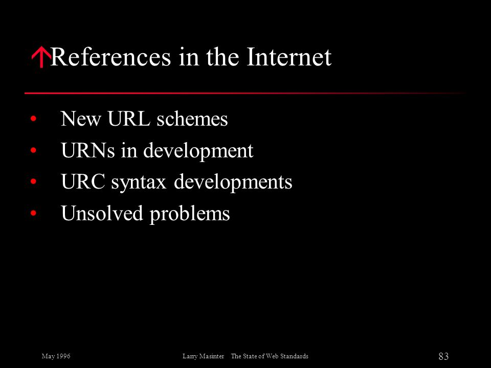 References in the Internet