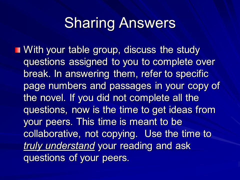 Sharing Answers