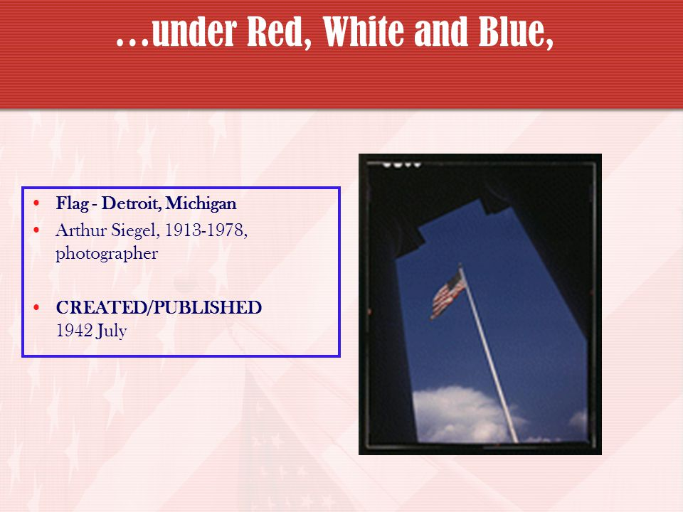 …under Red, White and Blue,