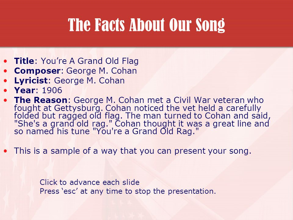 The Facts About Our Song