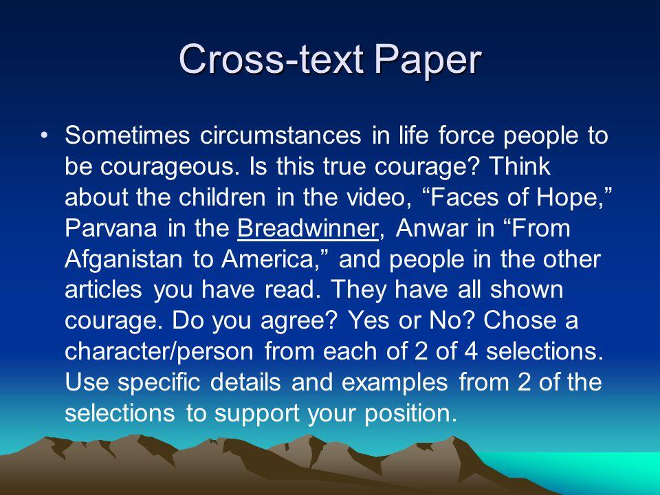 Cross-text Paper