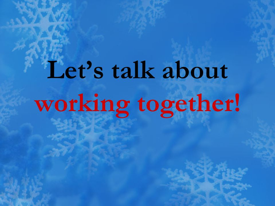 Let's talk about working together!