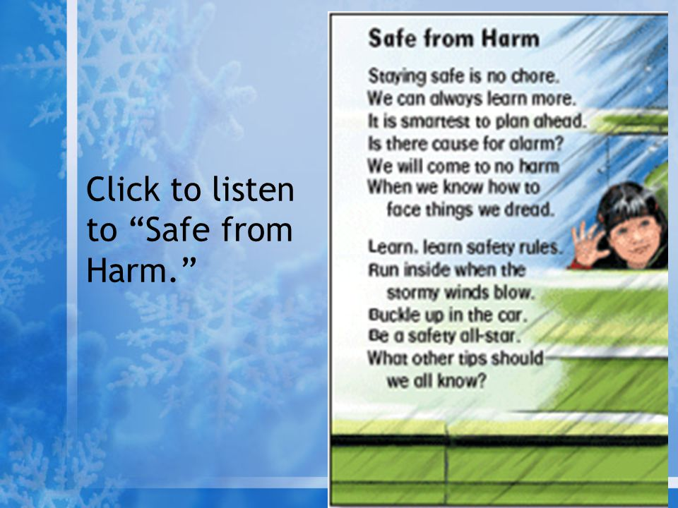 Click to listen to Safe from Harm.