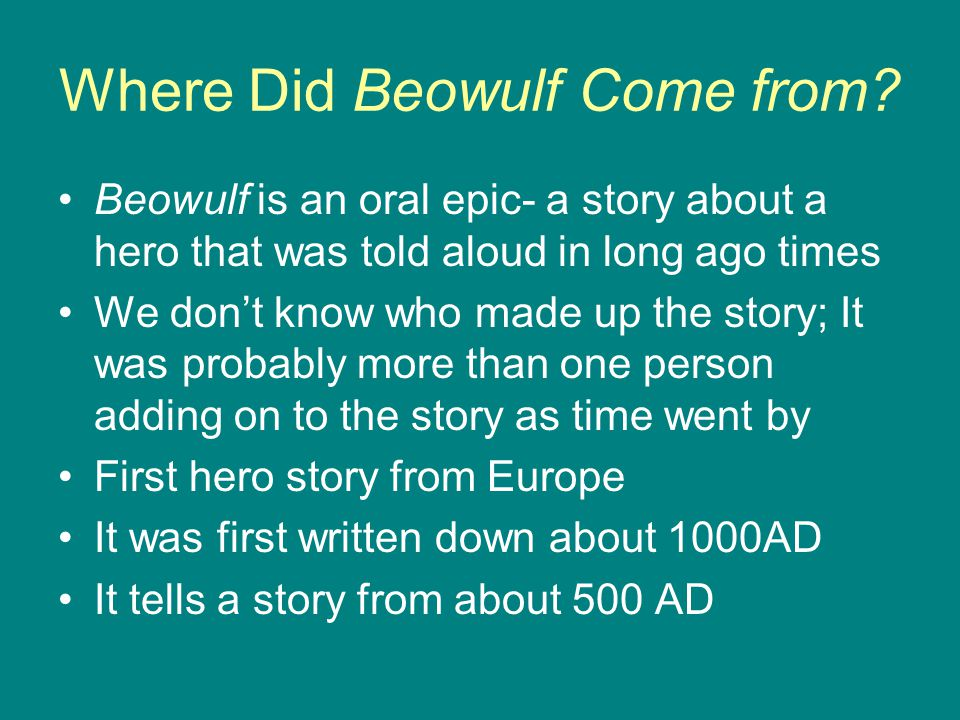 Where Did Beowulf Come from