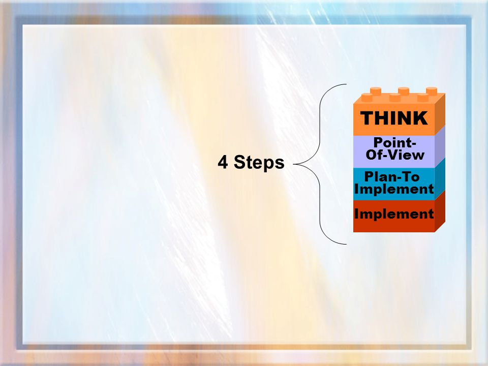 THINK Point- Of-View 4 Steps Plan-To Implement Implement