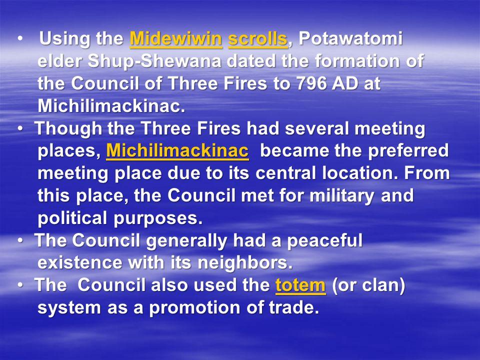 Using the Midewiwin scrolls, Potawatomi