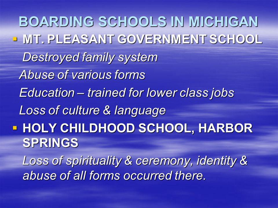 BOARDING SCHOOLS IN MICHIGAN