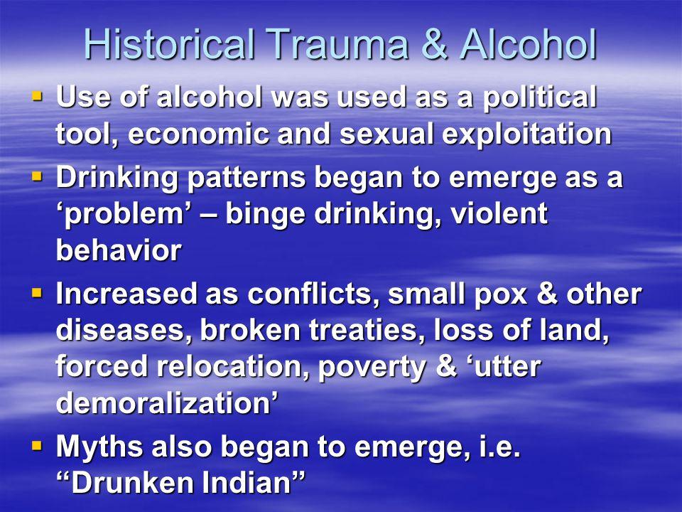 Historical Trauma & Alcohol