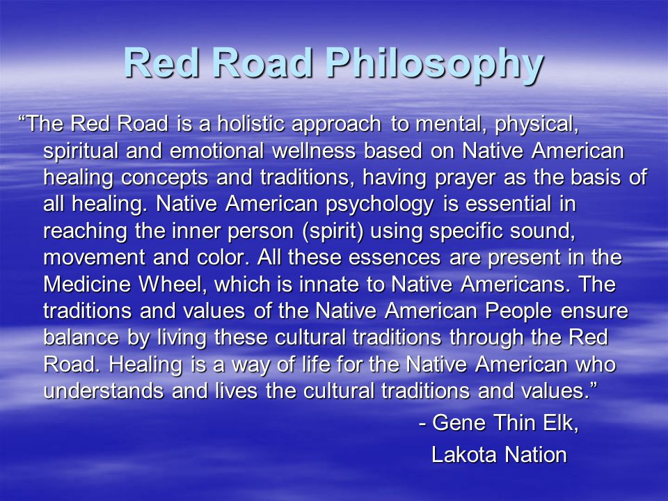 Red Road Philosophy