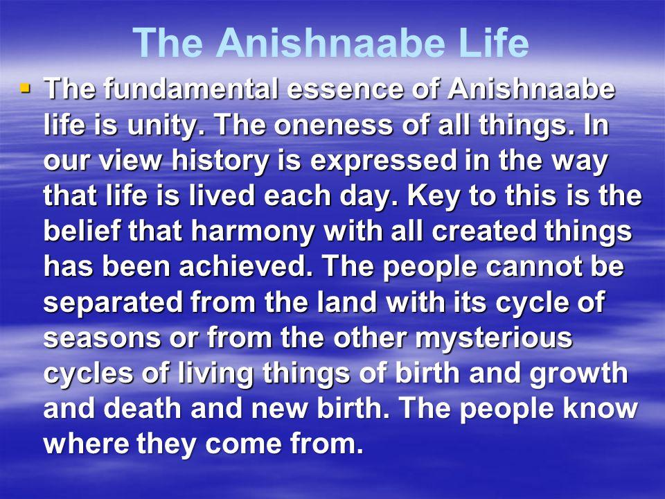 The Anishnaabe Life