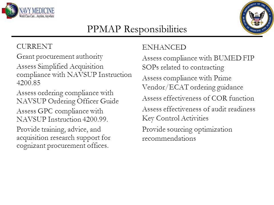 PPMAP Responsibilities