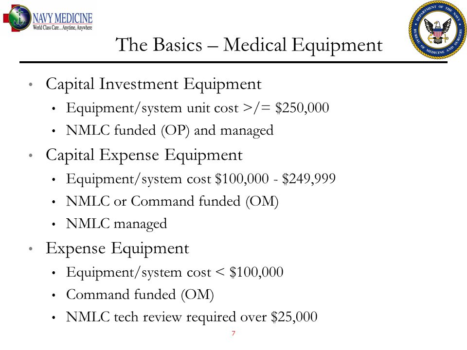 The Basics – Medical Equipment