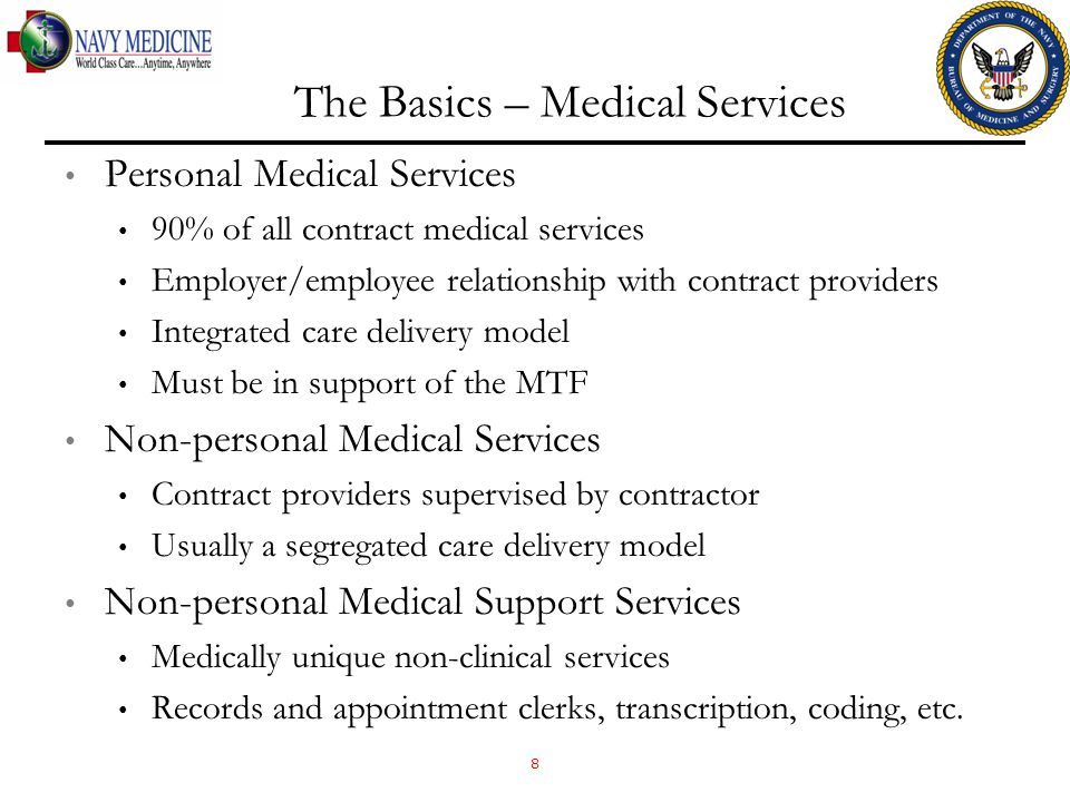 The Basics – Medical Services